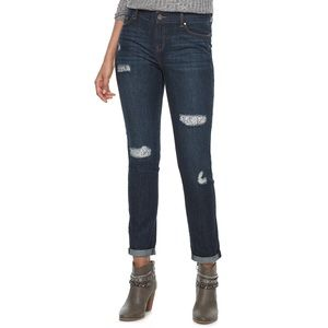 Juicy Couture Embellished Ripped Jeans